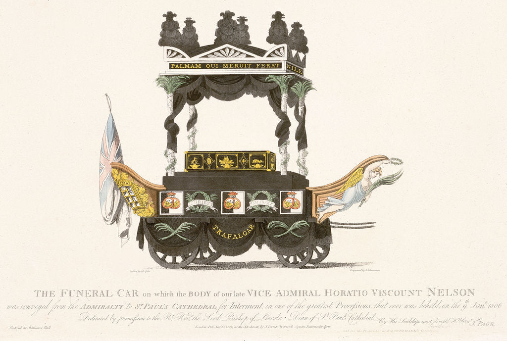 Detail of Nelson's funeral car by Mcquin