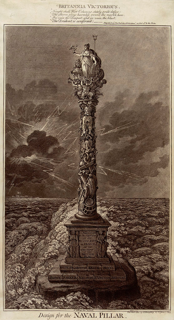Detail of Britannia Victorious... Design for the Naval Pillar by James Gillray