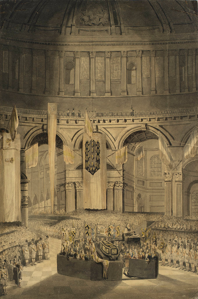 Detail of Interment of Nelson at St Paul's, 9 January 1806 by William Orme