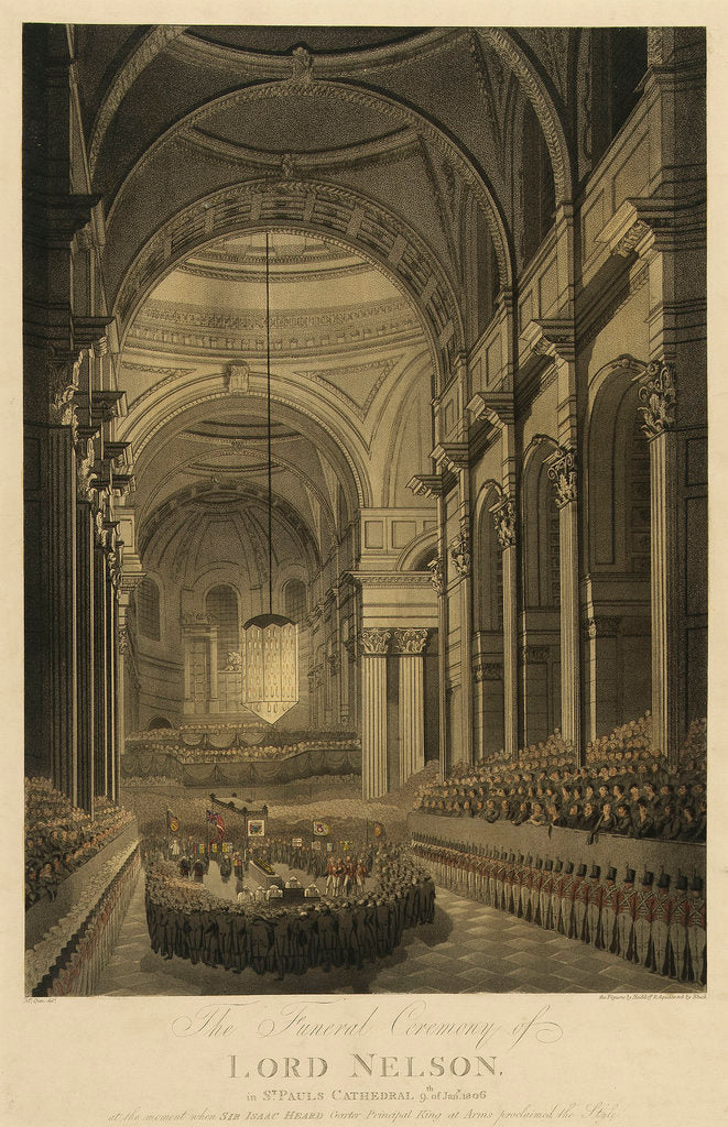 Detail of The Funeral Ceremony of Lord Nelson, in St Paul's Cathedral, 9th of Jany 1806 by Mcquin