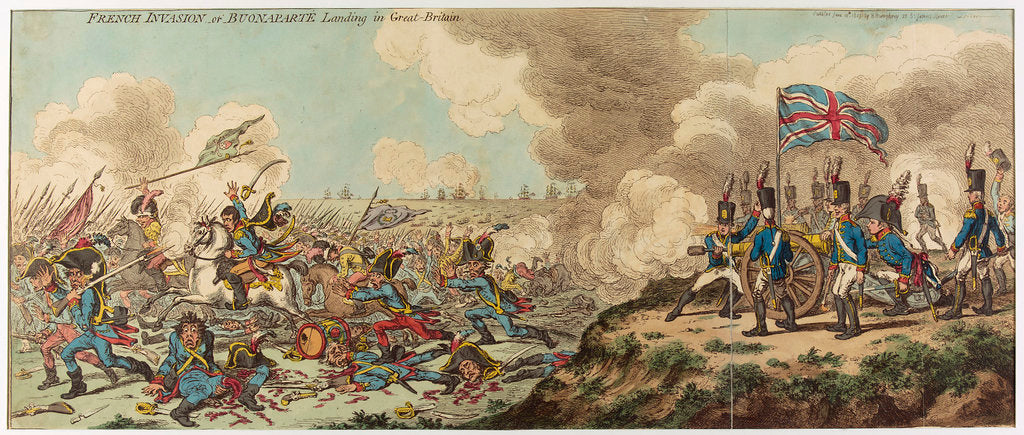 Detail of French Invasion or Buonaparte Landing in Great Britain by James Gillray