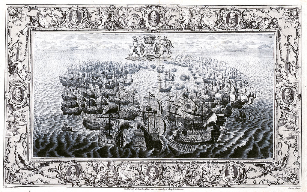 Detail of Armada 1588. The action off the Isle of Wight, 25 July 1588 by C. Lempriere
