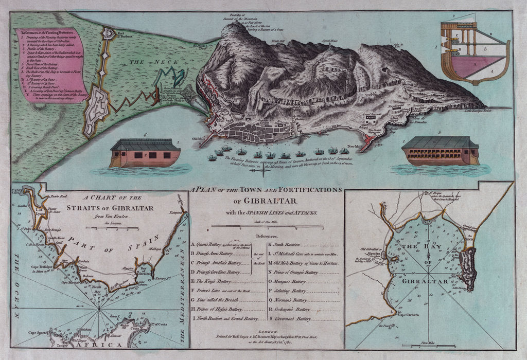 Detail of Plan of Gibraltar by Robert Sayer & John Bennett