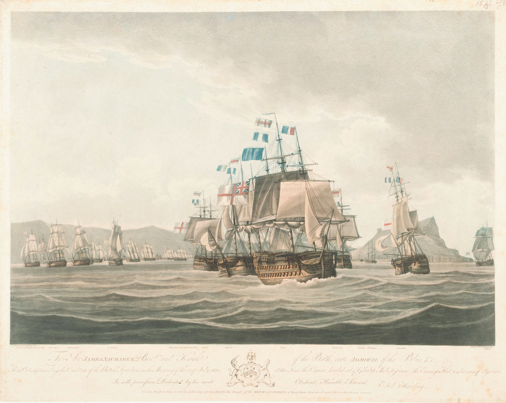 Detail of The British squadron at Gibraltar, 12 July 1801 by Jaheel Brenton