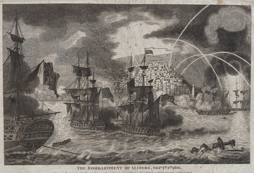 Detail of The bombardment of Algiers by Edward Orme
