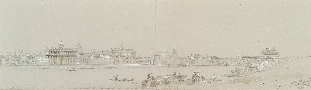 Detail of Greenwich from the N. E. / 19 October 1848. The weather very cold ... by John Wilson Carmichael