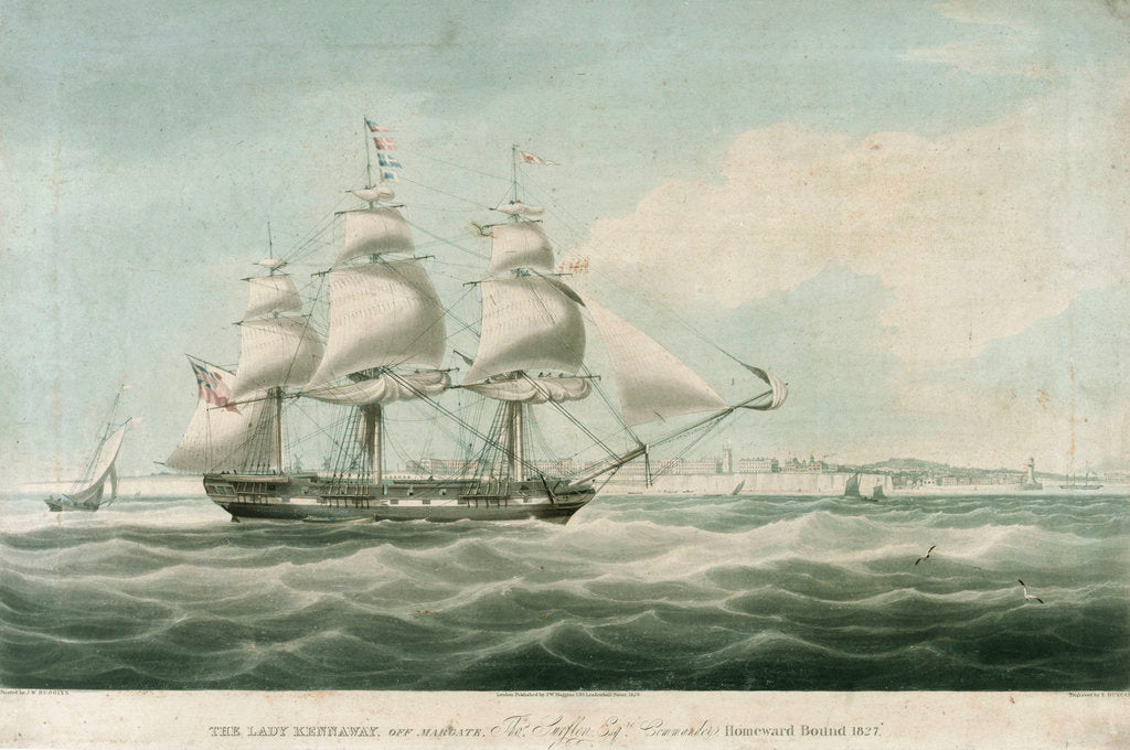 Detail of The 'Lady Kennaway' off Margate by William John Huggins