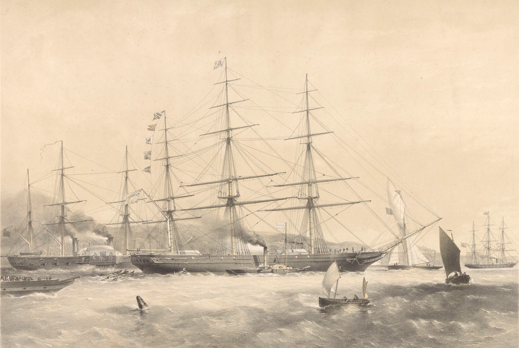 Detail of Clipper Ship 'Schomberg' (1855) by G.H. Andrews