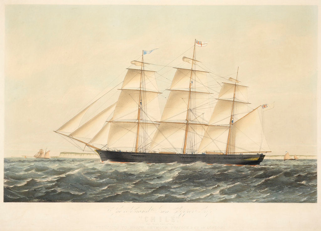 Detail of The Celebrated Iron Clipper Ship Chile 767 Tons Register, belonging to Messrs Seymour Peacock & Co of London by E. Offor