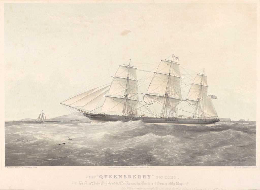 Detail of Ship 'Queensberry' (1856) by Samuel Walters