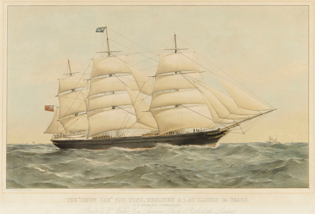 Detail of The tea clipper 'Shun Lee' by Thomas Goldsworth Dutton