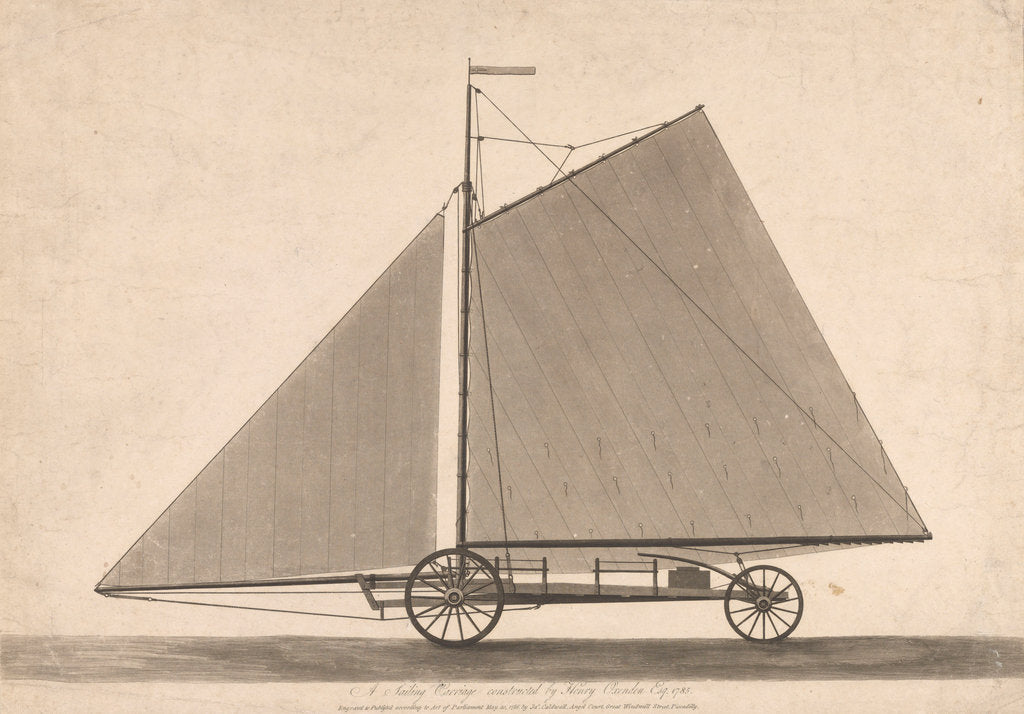 Detail of A sailing carriage constructed by Henry Oxenden Esq 1785 by James Caldwell