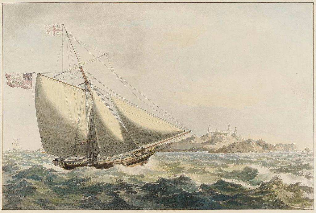 Detail of The Trinity yacht by William John Huggins