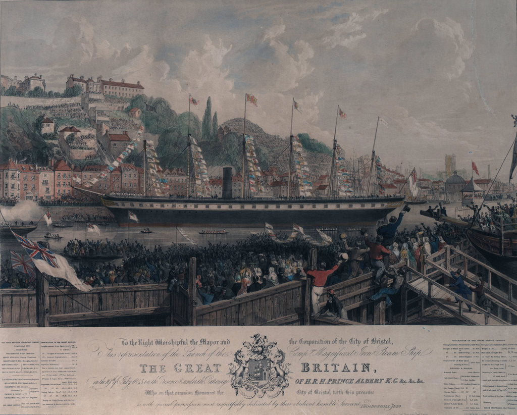 Detail of Launch of the SS 'Great Britain' in 1843 by Day & Haghe