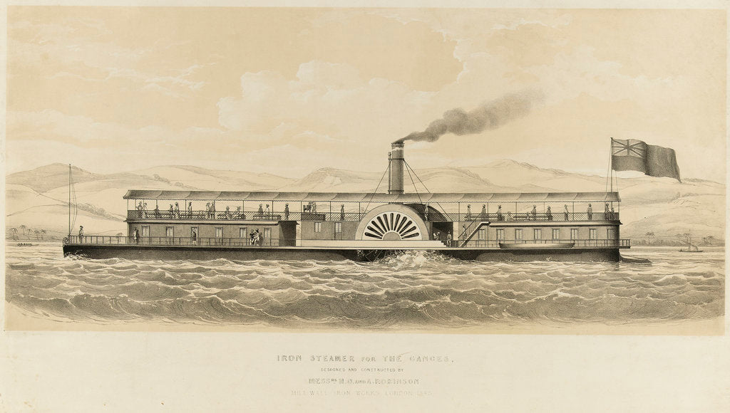Detail of Iron steamer for the Ganges by unknown