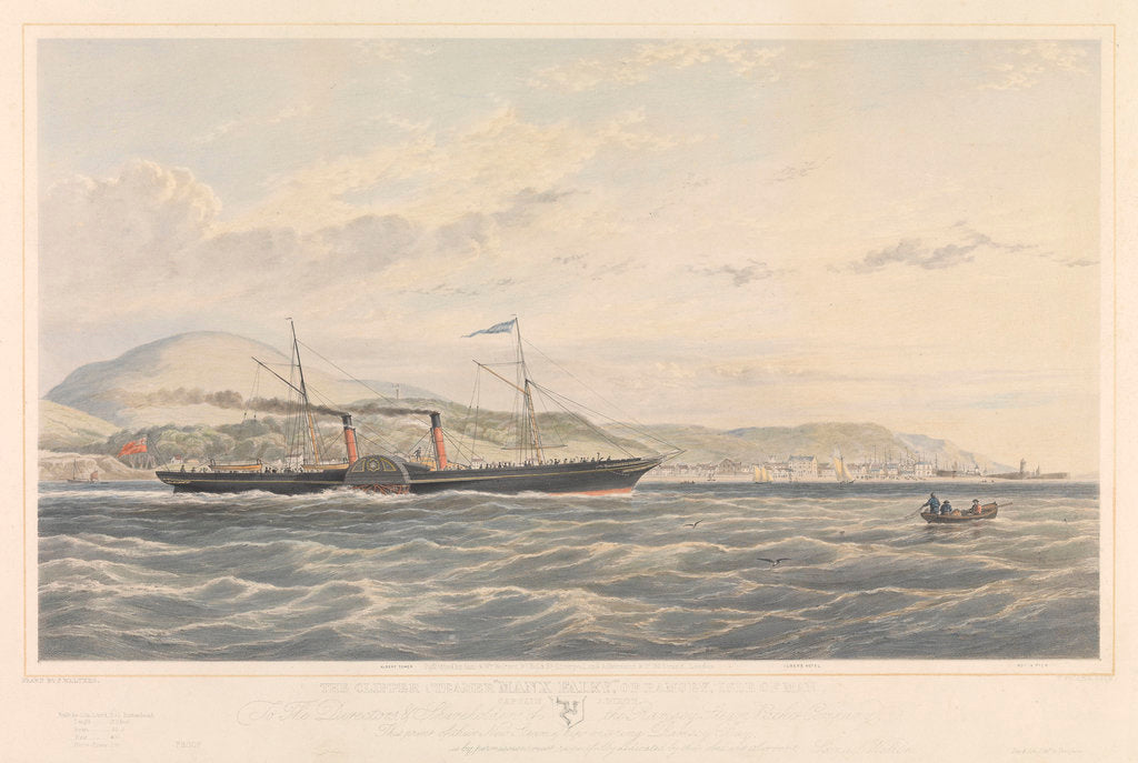 Detail of Clipper steamer 'Manx Fairy of Ramsey', Isle of Man by Samuel Walters