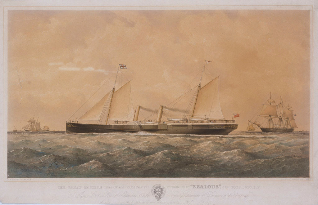 Detail of The Great Eastern Railway Company's steam ship 'Zealous' by Thomas Goldsworth Dutton