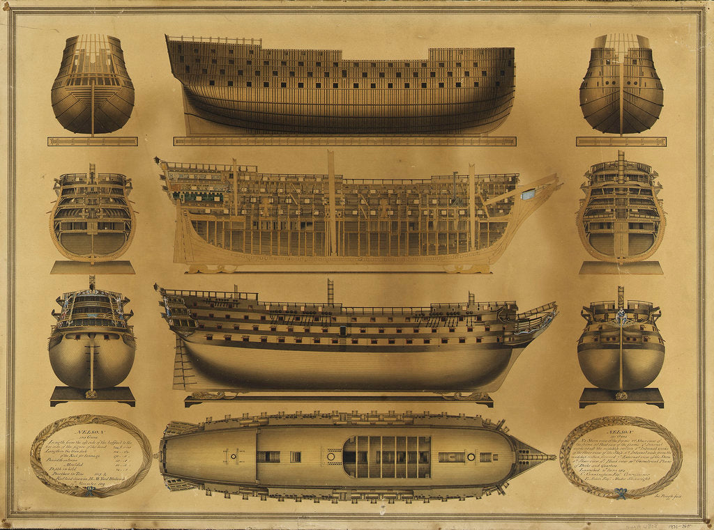 Detail of Plan of HMS 'Nelson' by James Pringle