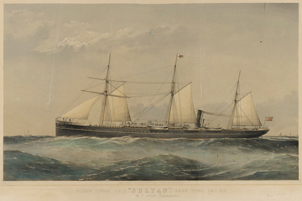 Detail of Screw steam ship 'Sultan' by Thomas Goldsworth Dutton