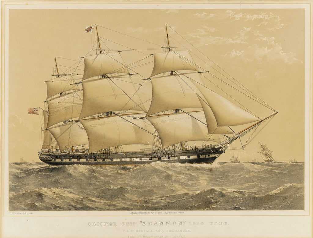 Detail of Clipper Ship 'Shannon' by Thomas Goldsworth Dutton