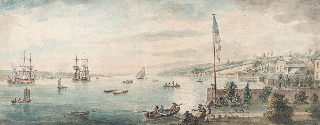 Detail of Staten Island from Fort Hamilton. New York 1791 by Dominic Serres