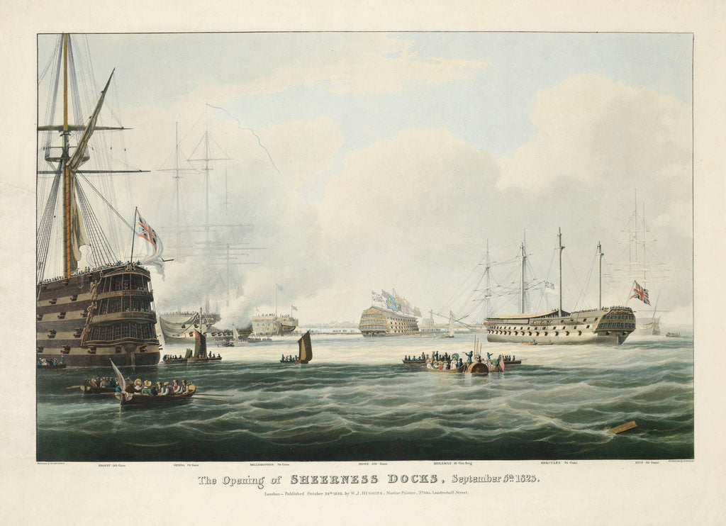 Detail of The opening of Sheerness docks, 5 September 1823 by William John Huggins