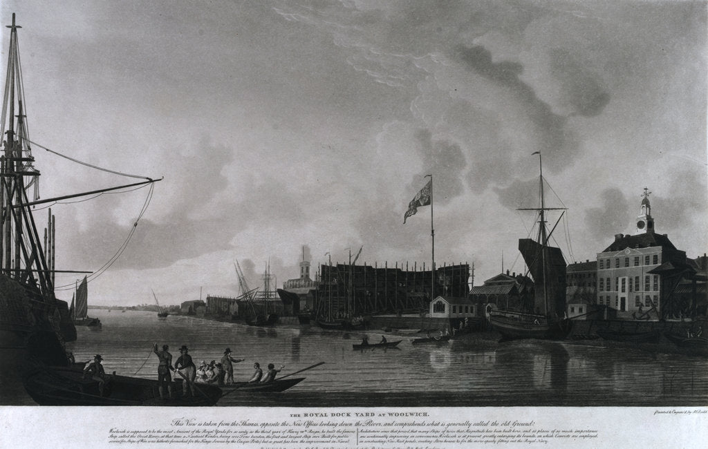 Detail of Woolwich dockyard by Thomas Milton