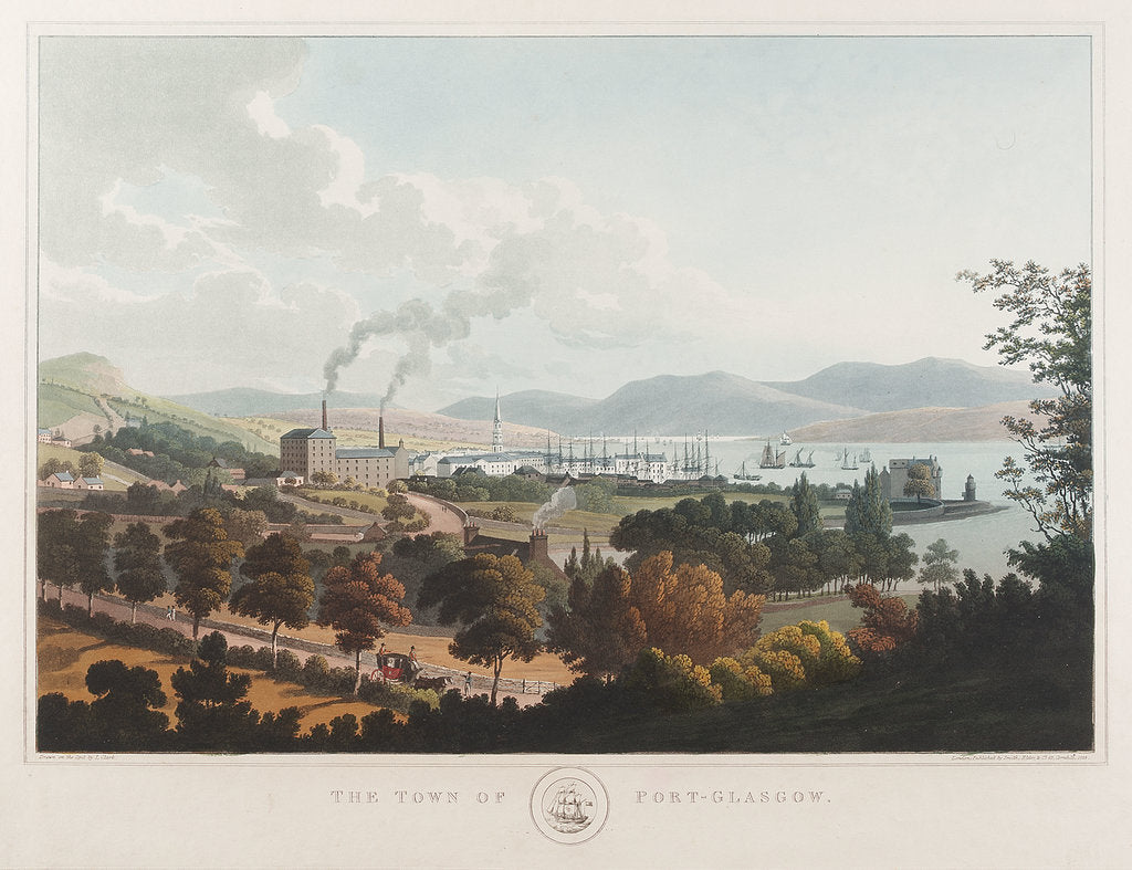 Detail of The town of Port Glasgow by I. Clark