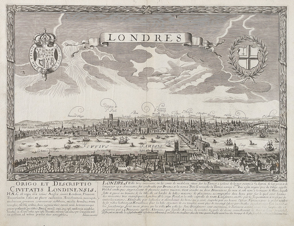 Detail of London before the Great Fire of 1666 by unknown