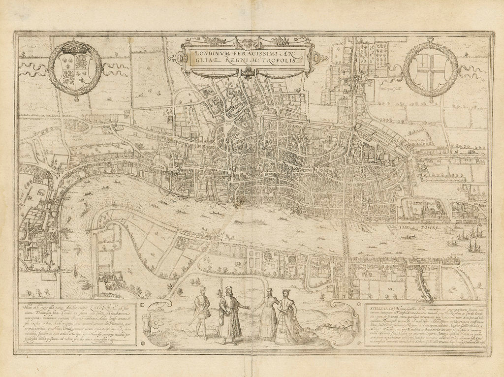 Detail of Map of London by unknown