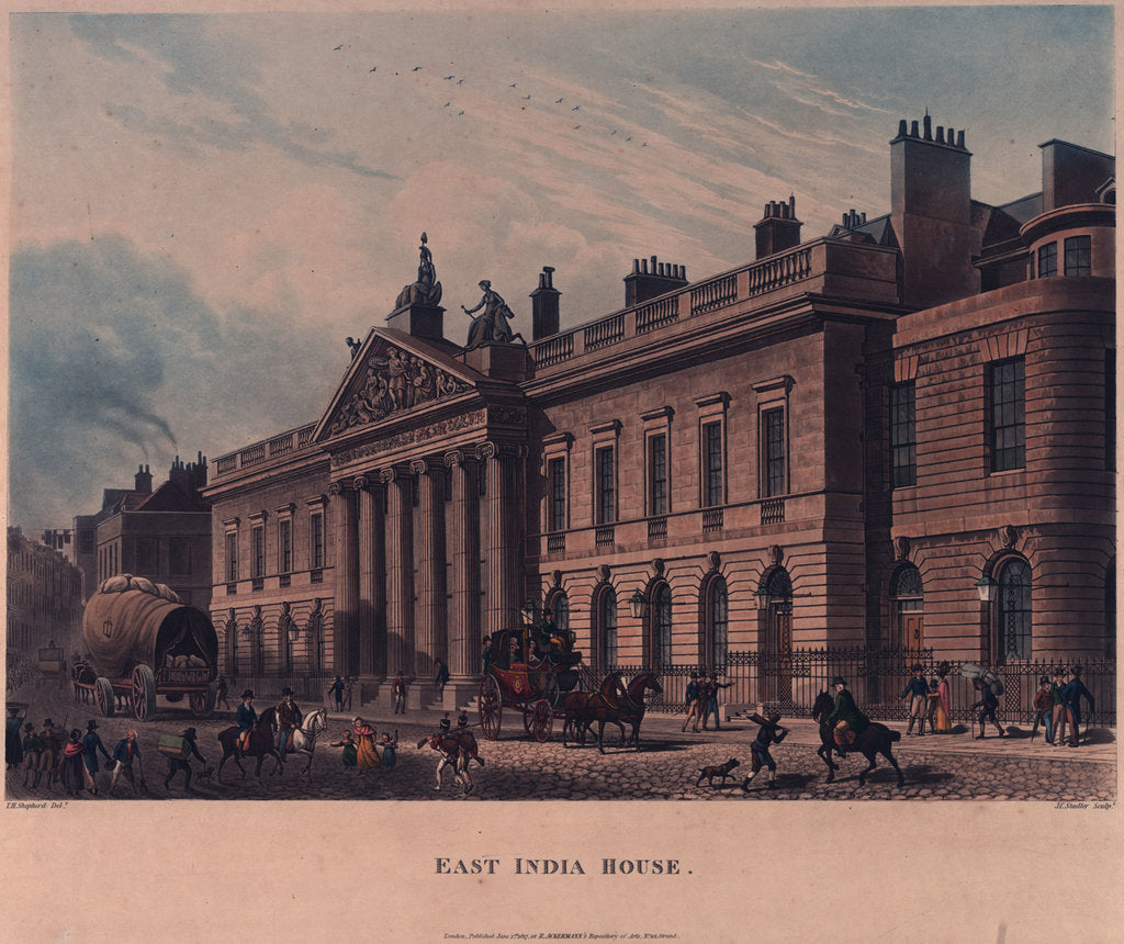 East India House by Thomas Hosmer Shepherd