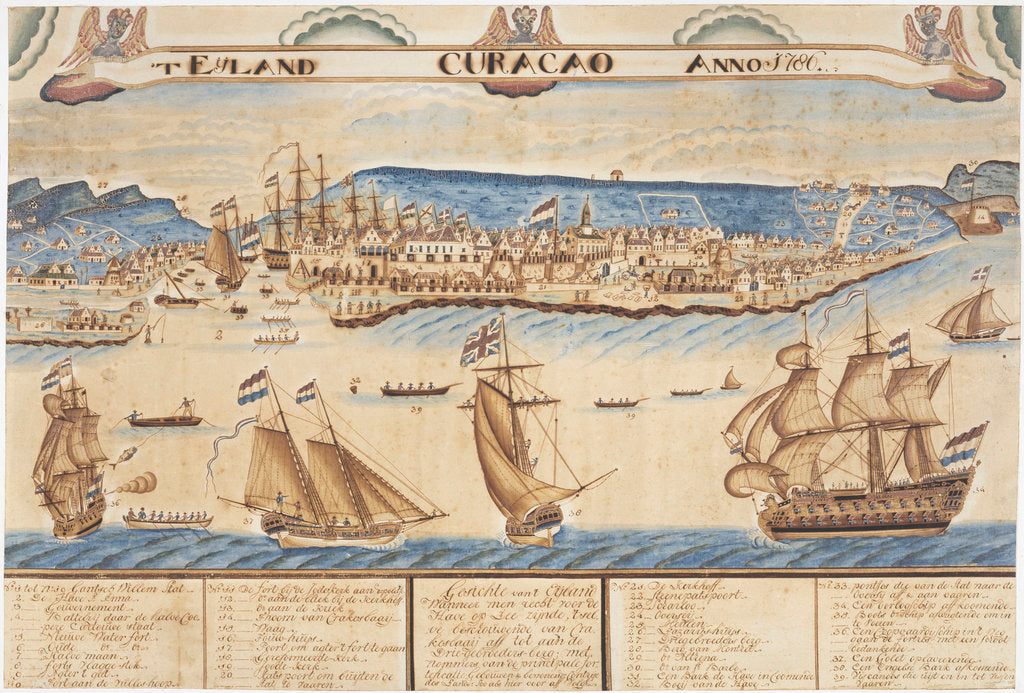 Island of Curacao, 1786 by unknown