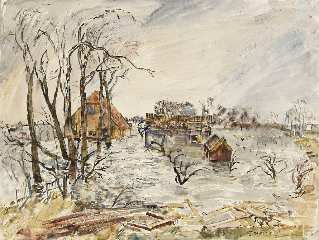 Detail of Flooded Walcheren by Thomas Hennell