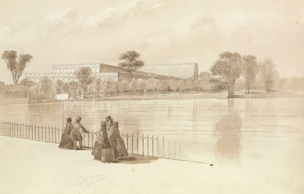 Detail of View of the Crystal Palace as built in Hyde Park for the Great Exhibtion, July 1851 by George Pechell Mends