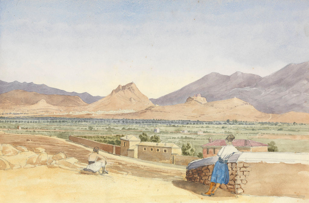 Detail of The Plain of Athens, October 1852 by George Pechell Mends