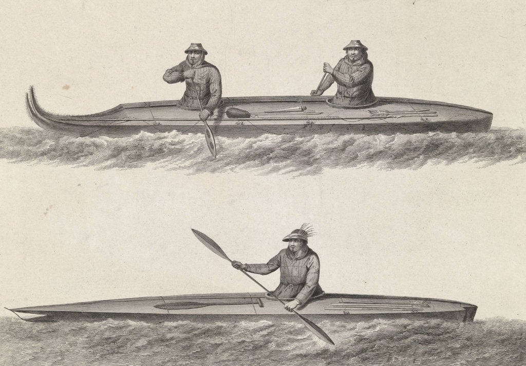 Detail of Canoes of Oonalashka by William Angus