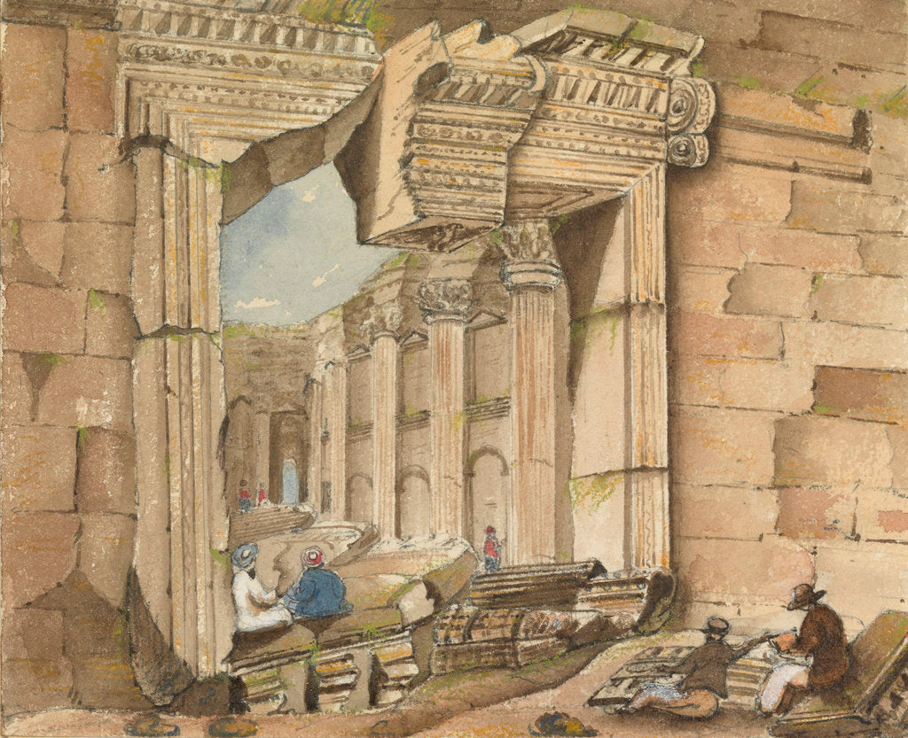 Detail of Gateway of the Temple of the Sun, Baalbec by Harry Edmund Edgell