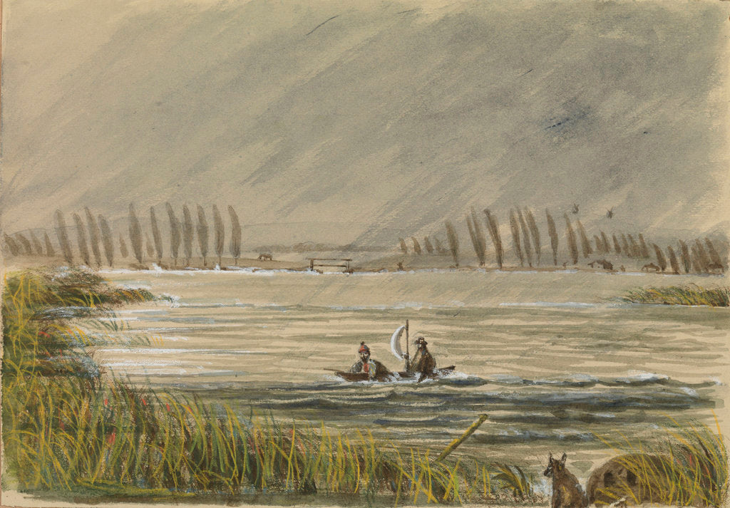 Detail of Snipe shooting at Abbeville, Adrift with Colin Joss? by Harry Edmund Edgell