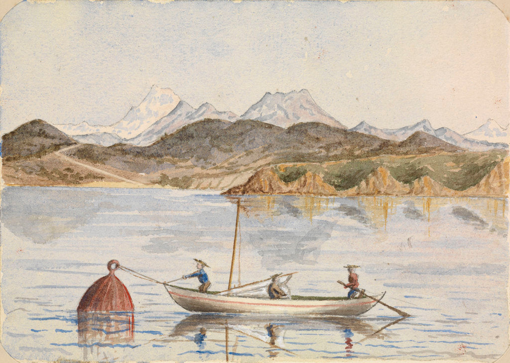 Detail of Watercolour from album by Hamilton Williams by Hamilton Williams