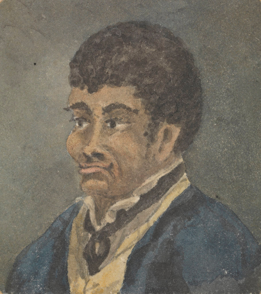 Detail of Portrait of a sailor, with dark skin and hair by Robert Streatfeild