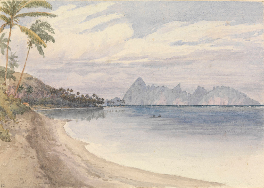 Detail of Eimeo [Moorea] from near Papeiti [Tahiti, Society Islands], Augt 25th 1849 by Edward Gennys Fanshawe