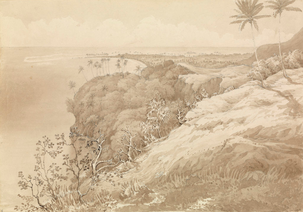 Detail of Matavai Bay and Point Venus, Tahiti, Augt 24th 1849 [Society Islands] by Edward Gennys Fanshawe