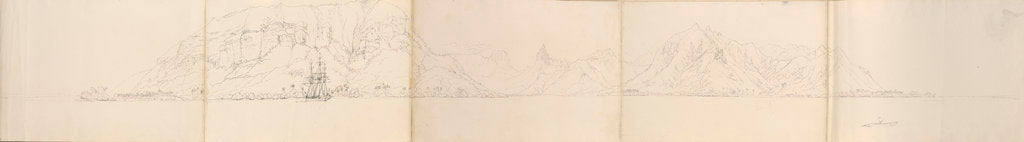 Detail of Panorama of Eimeo [Moorea], Society Islands by Edward Gennys Fanshawe