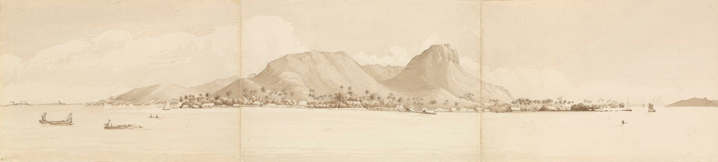 Detail of Panorama of Raiatea, Septr 1st 1849. Tahaa to the right [Society Islands] by Edward Gennys Fanshawe