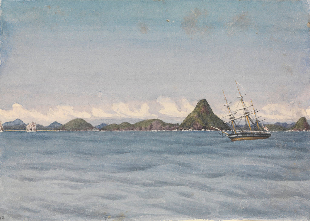 Detail of Outer anchorage in a calm, Mazatlan [Mexico], Augt 17th 1850 by Edward Gennys Fanshawe