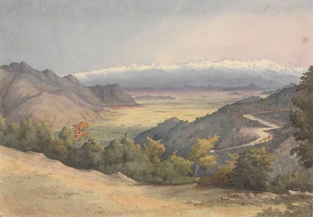 Detail of Plain of Santiago, Chile, from the Cuesta del Prado, Jany 7th 1851 by Edward Gennys Fanshawe