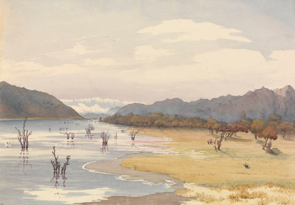 Detail of Lake of Acoleo [Aculeo], Chile, Jany 11th 1851 by Edward Gennys Fanshawe