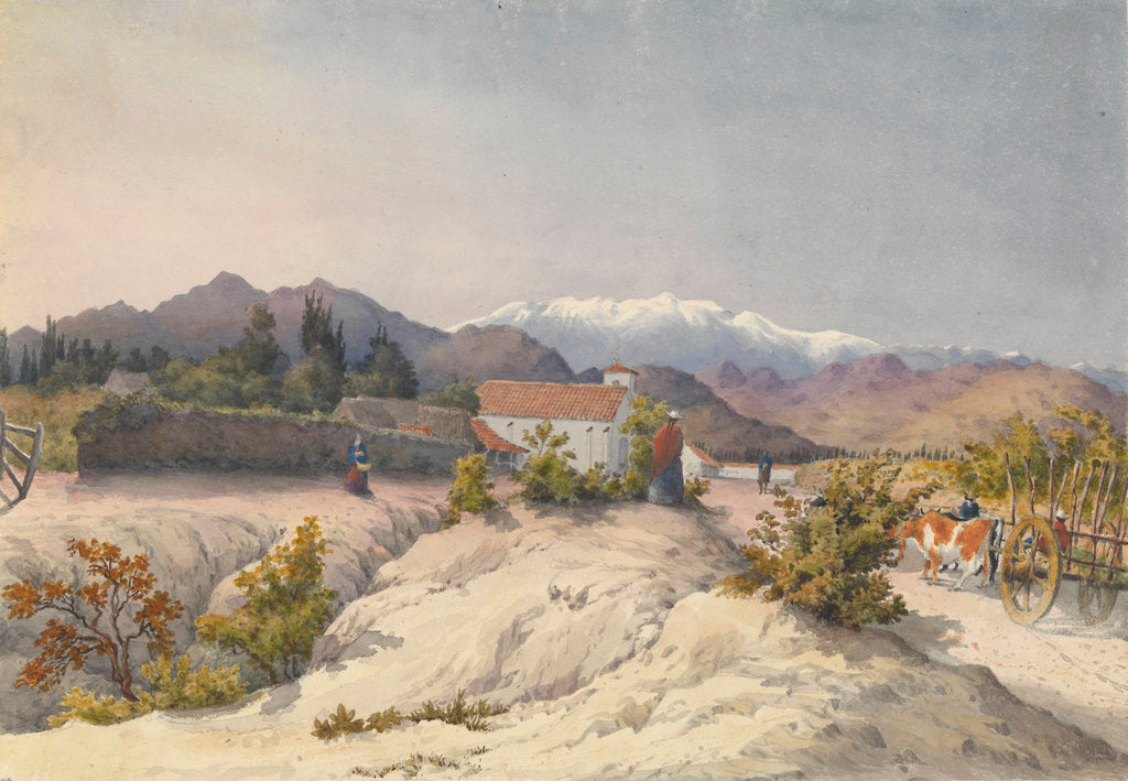 Detail of Callina [Colina], 15 miles north of Santiago, Jany 13th 1851 [Chile] by Edward Gennys Fanshawe