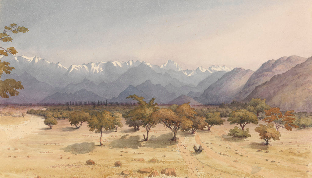 Detail of Two Leagues from Santa Rosa [Chile], Jany 14th 1851 [with the Andes and Aconcagua] by Edward Gennys Fanshawe