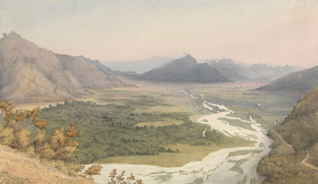 Detail of Between San Felipe de Aconcagua and Quillota, Chile, Jany 16th 1851 by Edward Gennys Fanshawe